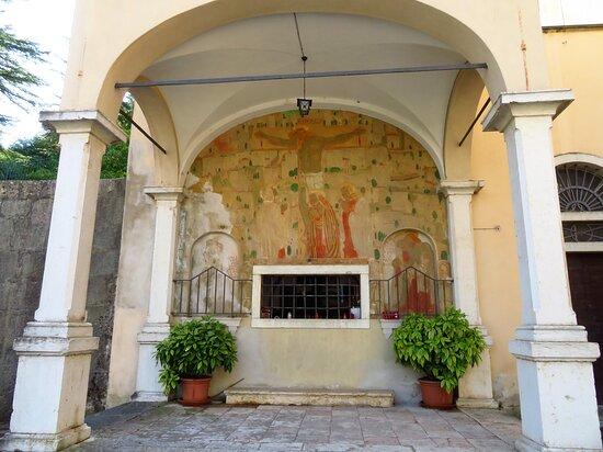 Affresco della cappella del Cristo Morto