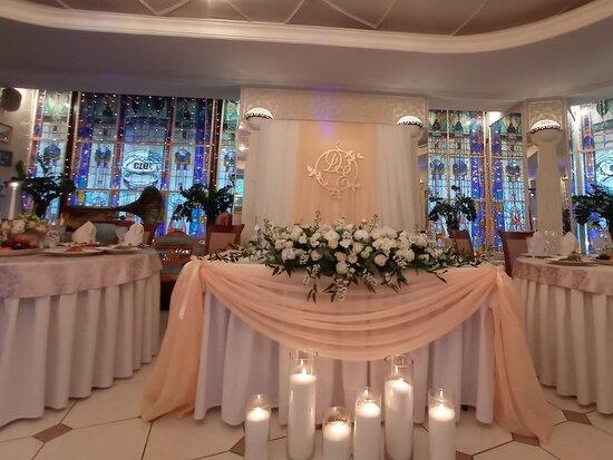 Свадебный банкет в Витражном зале