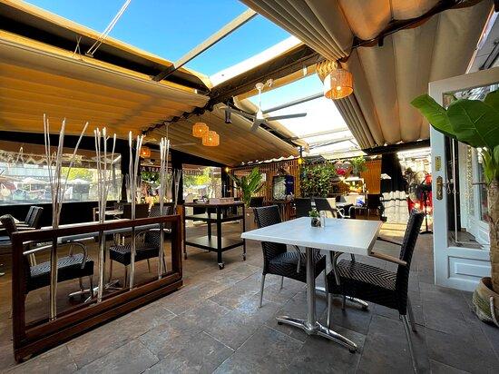 Terraza del restaurante.
