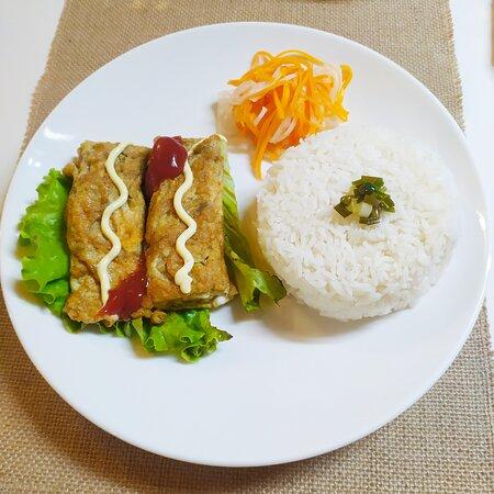 Riz à l'Omelette Vietnamienne