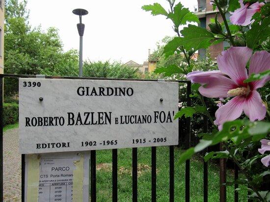 Giardino Roberto Bazlen e Luciano Foà