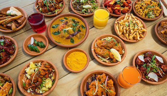 Great Tapas combo with Indian Street Food