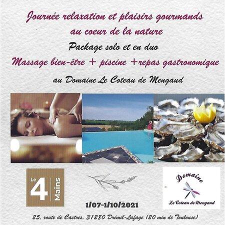 En été, nous massons dans un endroit paradisiaque, aussi, au bord  de l'eau, on vous propose ce package...