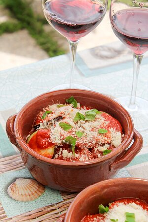 Eggplant (from our garden) Parmigiana