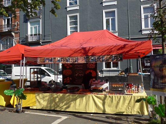 Brussels, Place du Châtelain, Wednesday market