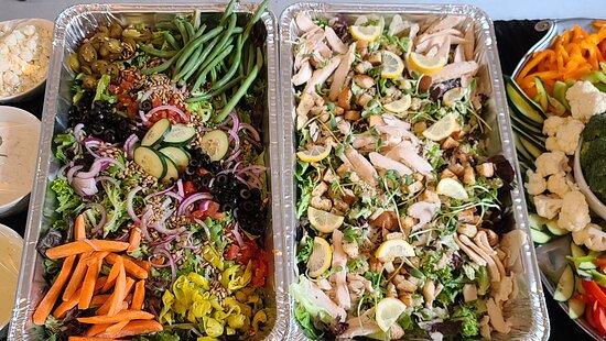 Catering Veggie salad and Caesar salad