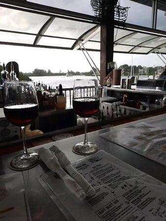 Water view from the Rusty Bellies bar.