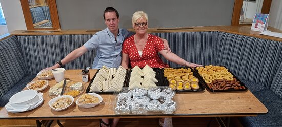 Shelly B also does catering for outside. If you have a birthday, anniversary, stag or hen party or christening coming up. Shelly B's can cater for everyone. Please enquire for prices