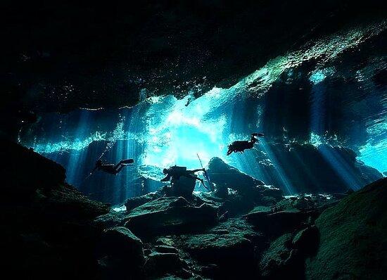 SCUBA Diving Cenote Chac-mool with Get Wet Dive Shop