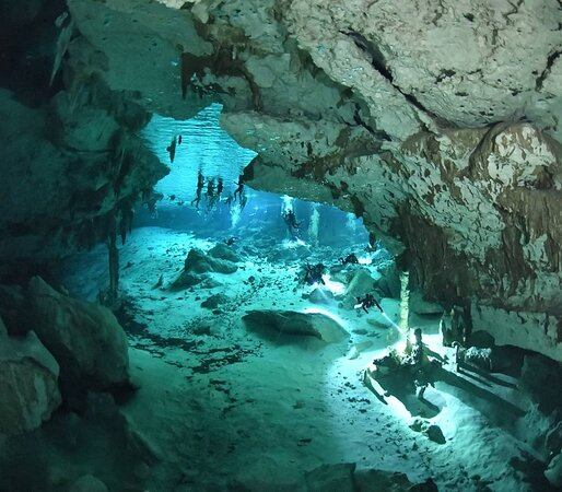 Discover Cenote Dos Ojos SCUBA diving with Get Wet Dive Shop