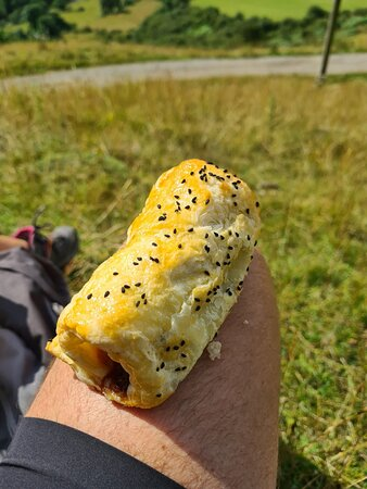 Homemade Sausage Roll for lunch