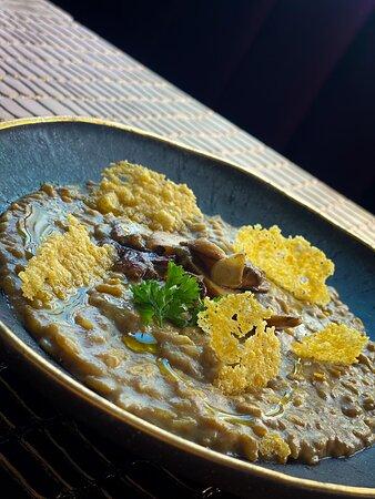 Porcini mushroom and truffle risotto