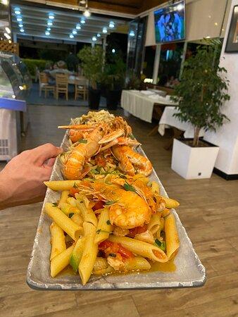 Pene with Shrimp, linguine with Scampi,