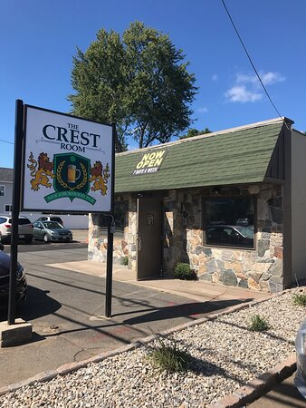 Crest room.. family restaurant specializing in Smokehouse BBQ, burgers and Dinners.  Located on Route 20, up the hill from  West Springfield center