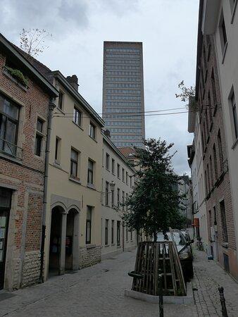 Brussels, Rue de la Samaritaine in the Marolles Neighbourhood