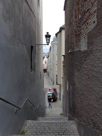 Brussels, Rue du Temple in the Marolles Neighbourhood