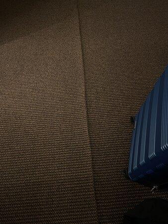 Carpet crease, tripping hazard