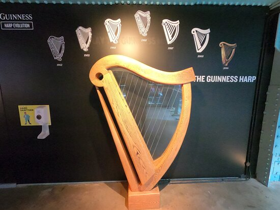 Guinness Storehouse Entrance Ticket: The Guinness harp through the years
