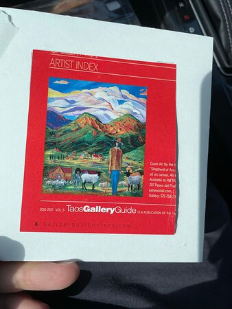 """But, as you can see, if a cut-out from the """"Taos Gallery Guide."""""""