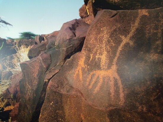 Prehistoric stone markings believed to be made by early man