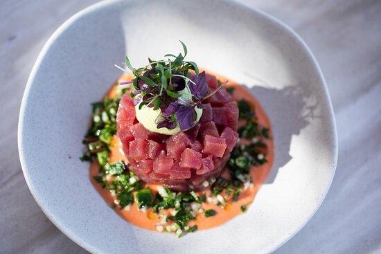 Barbouni Restaurant- Tuna Tartar Dish