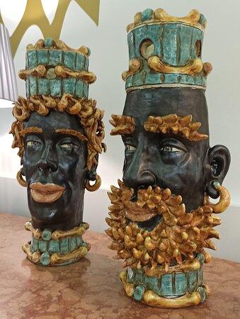 Teste di Moro - Bottega Sicula Ceramiche Siciliane Messina