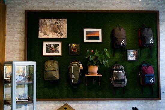 Um espaço criado com muito gosto e criatividade.