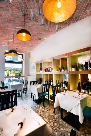 Cozy atmosphere with wide selection of dishes and drinks!