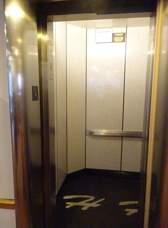 Elevator for floors 1-6. Feels tiny when you first get into it, especially with all your stuff.