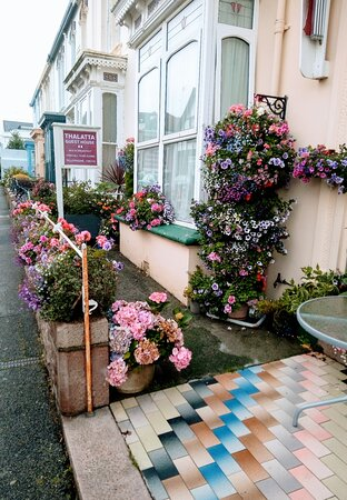 Thalatta guest house .August 2021 Stunning & vibrant displayed fresh flowers