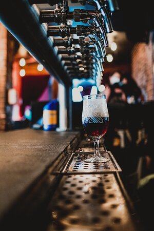 14 taps of craft beer from all around the world.