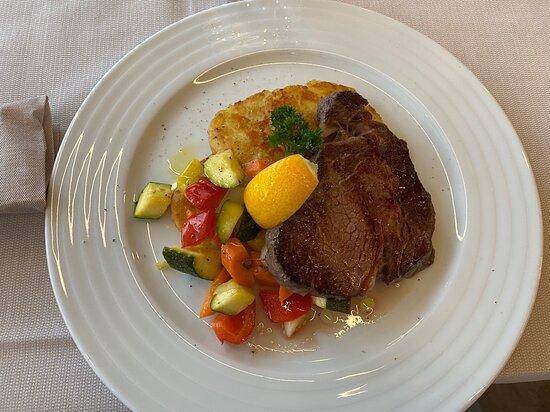 Bistecca ribeye con verdure