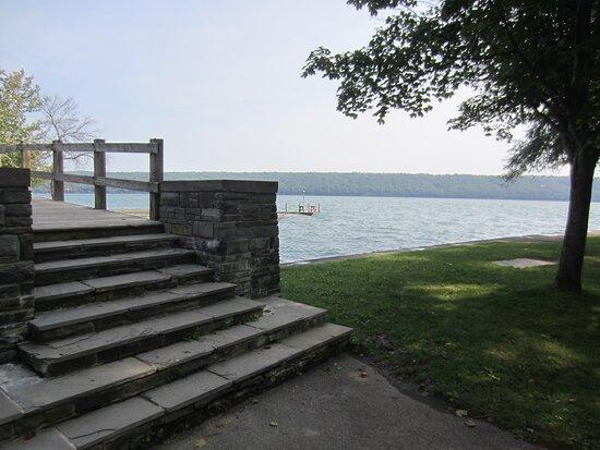 Bridge near lake.