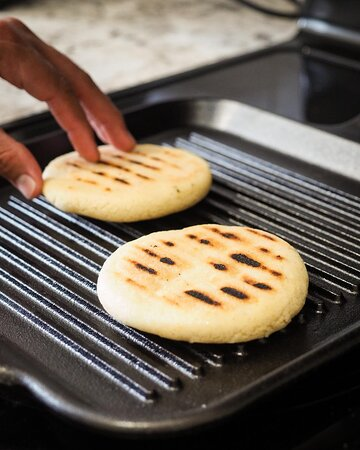 Arepas are made of corn-flour which make them gluten free!