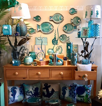 The Admiralty, in business since 1993, offers wonderful home decor, gifts, jewelry, and art with a wonderful beach vibe.