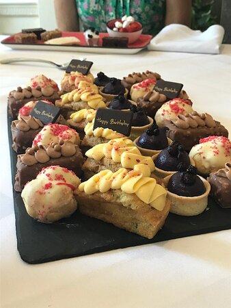 Celebration platter for dessert