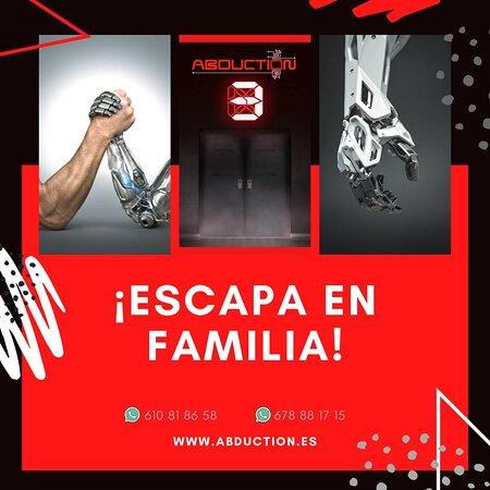 Abduciton 3 es una muy buena actividad para hacer en familia o con amigos. disfrutaréis de 60 minutos de pura adrenalina y diverisón. www.abduction.es