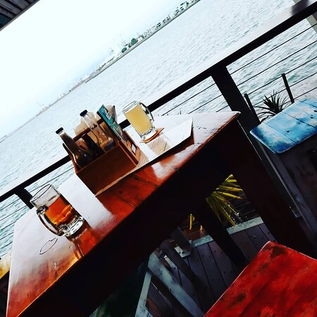 Drinks by the sea