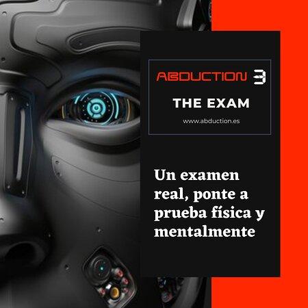 abduction 3, es un escape room diferente, donde a parte de resolver enigmas utilizando tu ingenio, deberás también mantenerte activo físicamente, no es necesario ser un atleta, pero si tener ganas de superarse y moverse! www.abduction.es