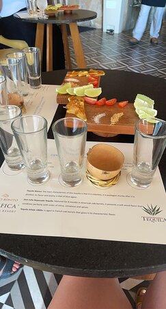 Alejandro's tequila tasting experience!