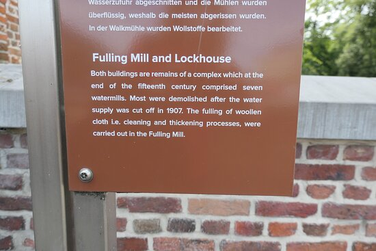 Mechelen, Information about the Fulling Mill and Lockhouse