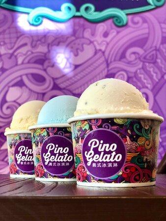 充滿冰淇淋的歡樂氣氛