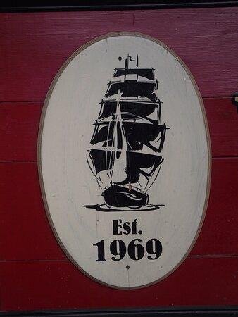 ME - KITTERY - WEATHERVANE - SHIP LOGO IN HALLWAY