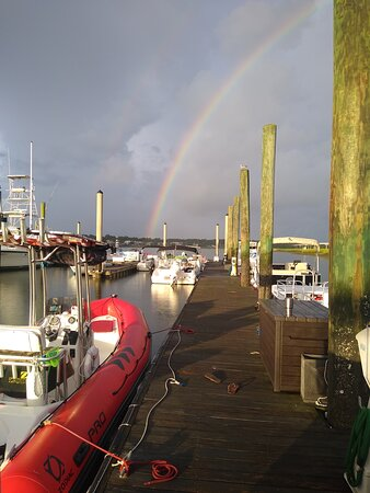 Rainbow at dock
