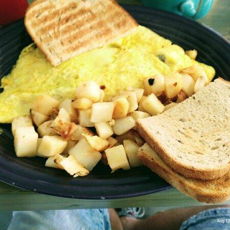 scrambled eggs and Potatoes
