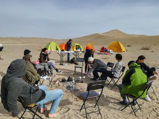 Breakfast in varzaneh desert