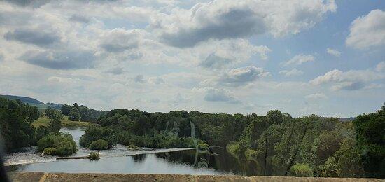 Chollerford bridge and view near the café.