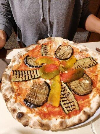 pizza alle verdure grigliate