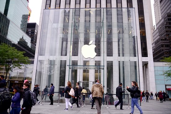 New York City, NY: Apple Store in the 5th street in New York