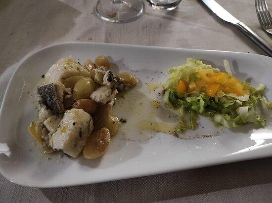 Baccala gorgonzola e uva
